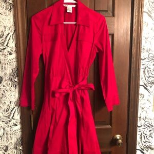 DVF red wrap dress